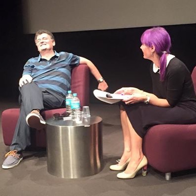 Steven Moffat and Holly Lyons at Australian Film Television and Radio School
