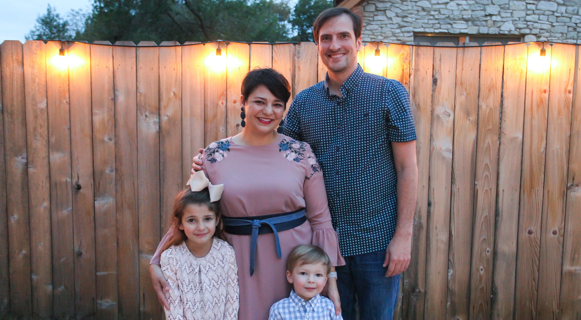 Celina with her Husband Luke Girdley and their two children.
