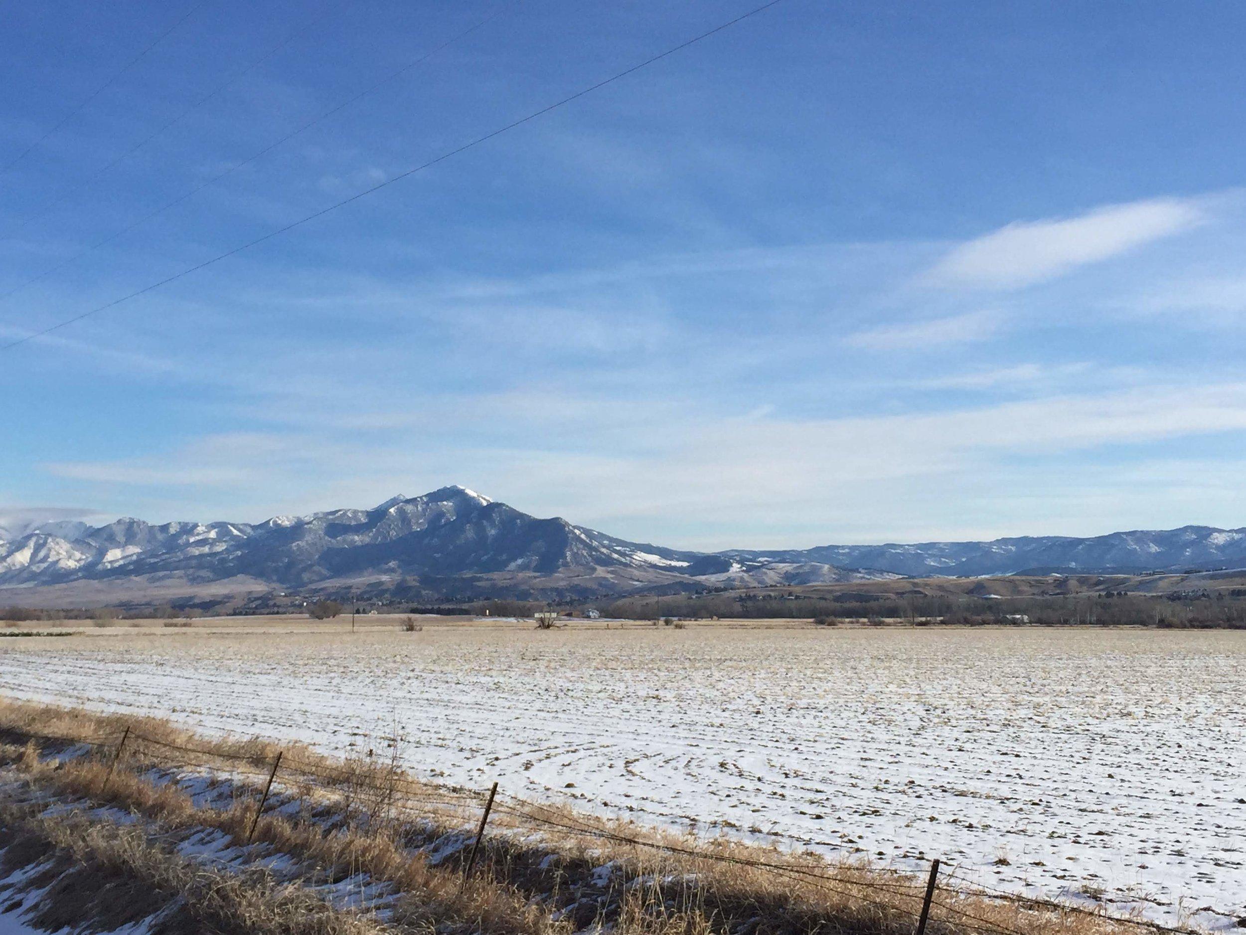 Bozeman Montana Snowfield