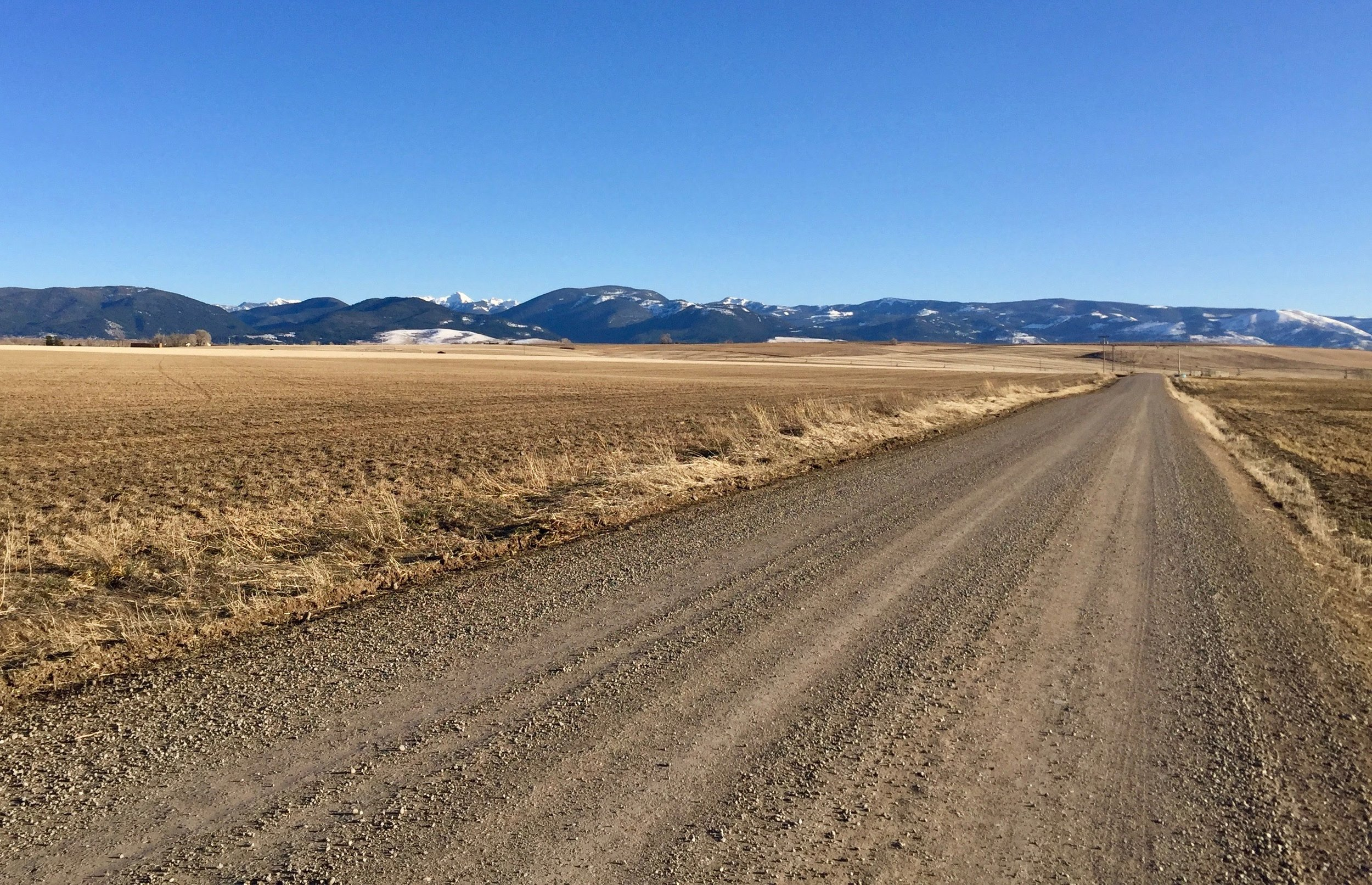 Bozeman Montana Farm Road