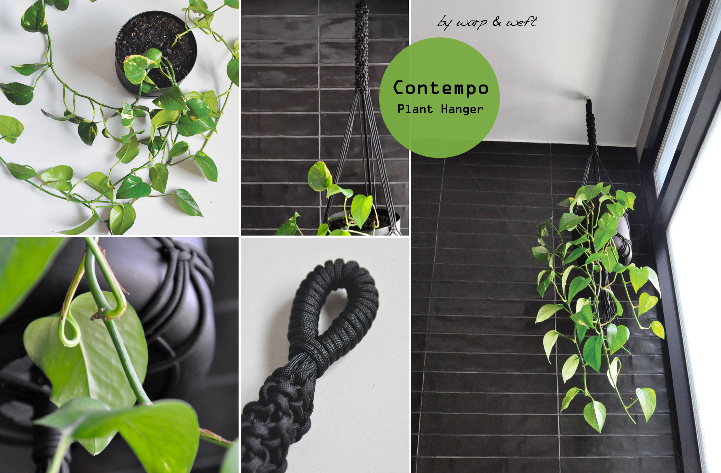 Designed for small spaces in mind. If you are looking to have a garden for your indoor or outdoor space but have very little room, this piece is a great size for you to achieve this. It's a simple macrame plant hanger featuring a funky knot at the top, a wrap knot to create a circle hook for you too hang immediately followed by a alternative knot that repeats to create a tubular texture. It's a cute yet stylish piece for a modern or traditional home.