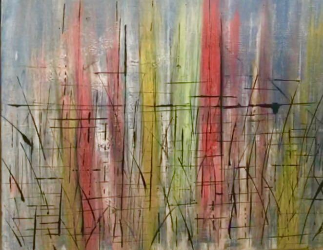 A Colheita #2  16 x 20   Acrylic with resin on canvas