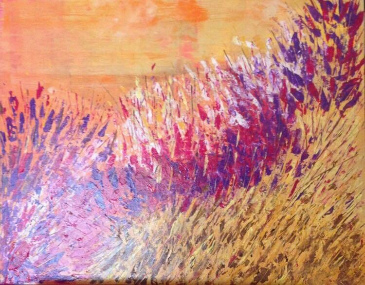 Harvest #1  24 X 26   Acrylic on canvas