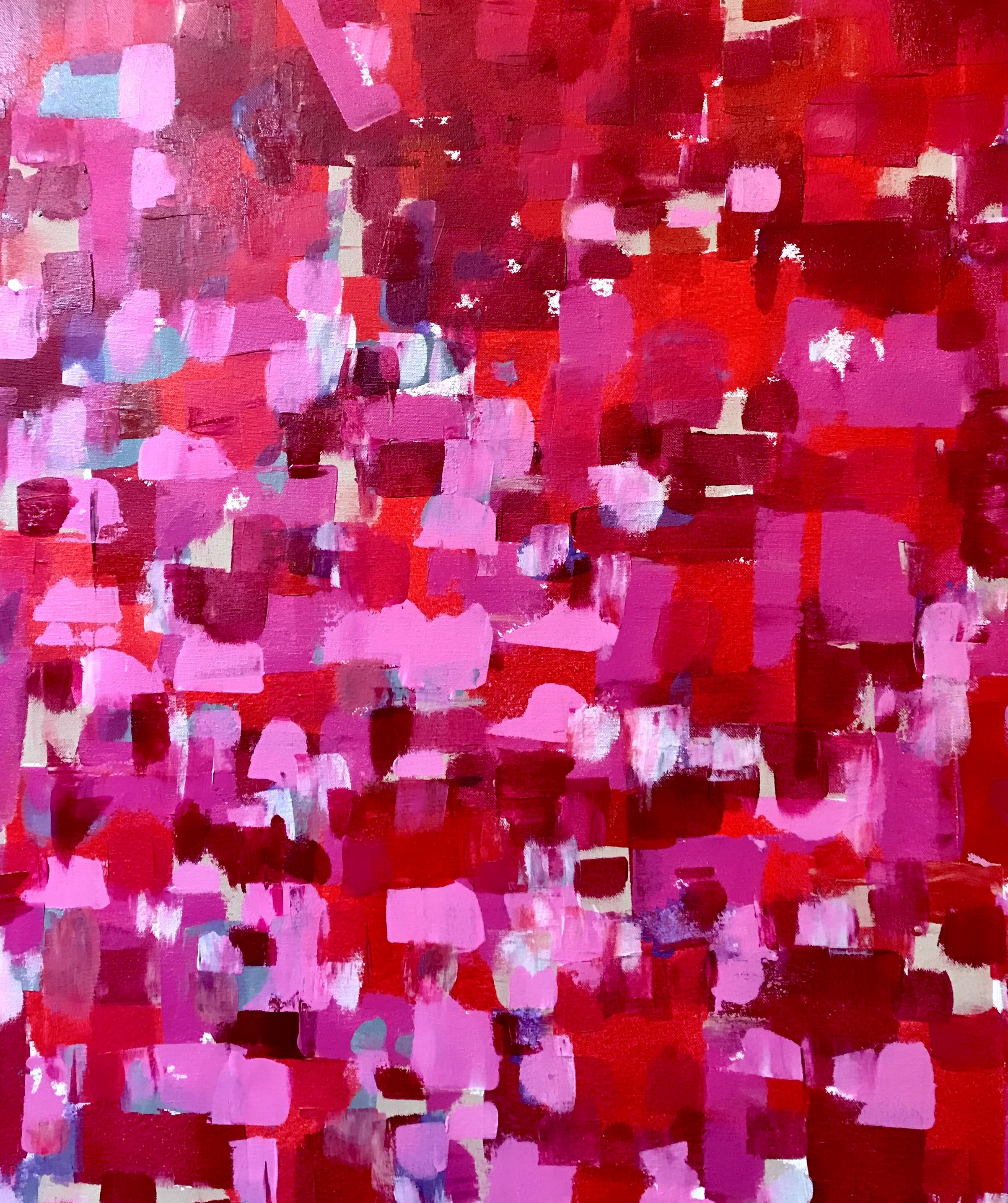"Red II  19.69"" x 19.69"" 