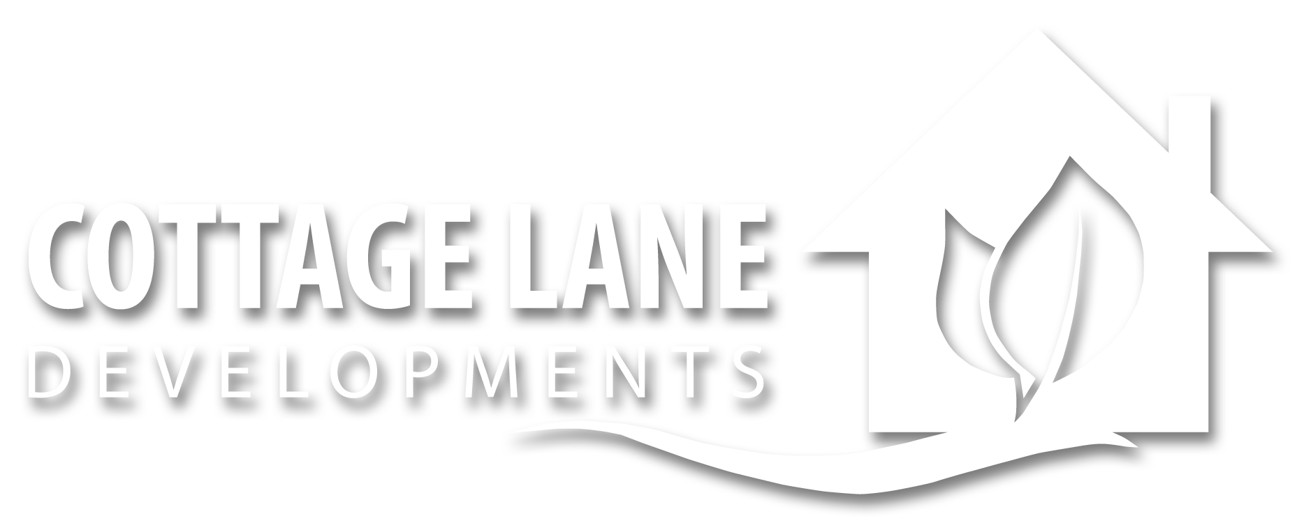 Cottage Lane Logo - New - White - Shadow.png