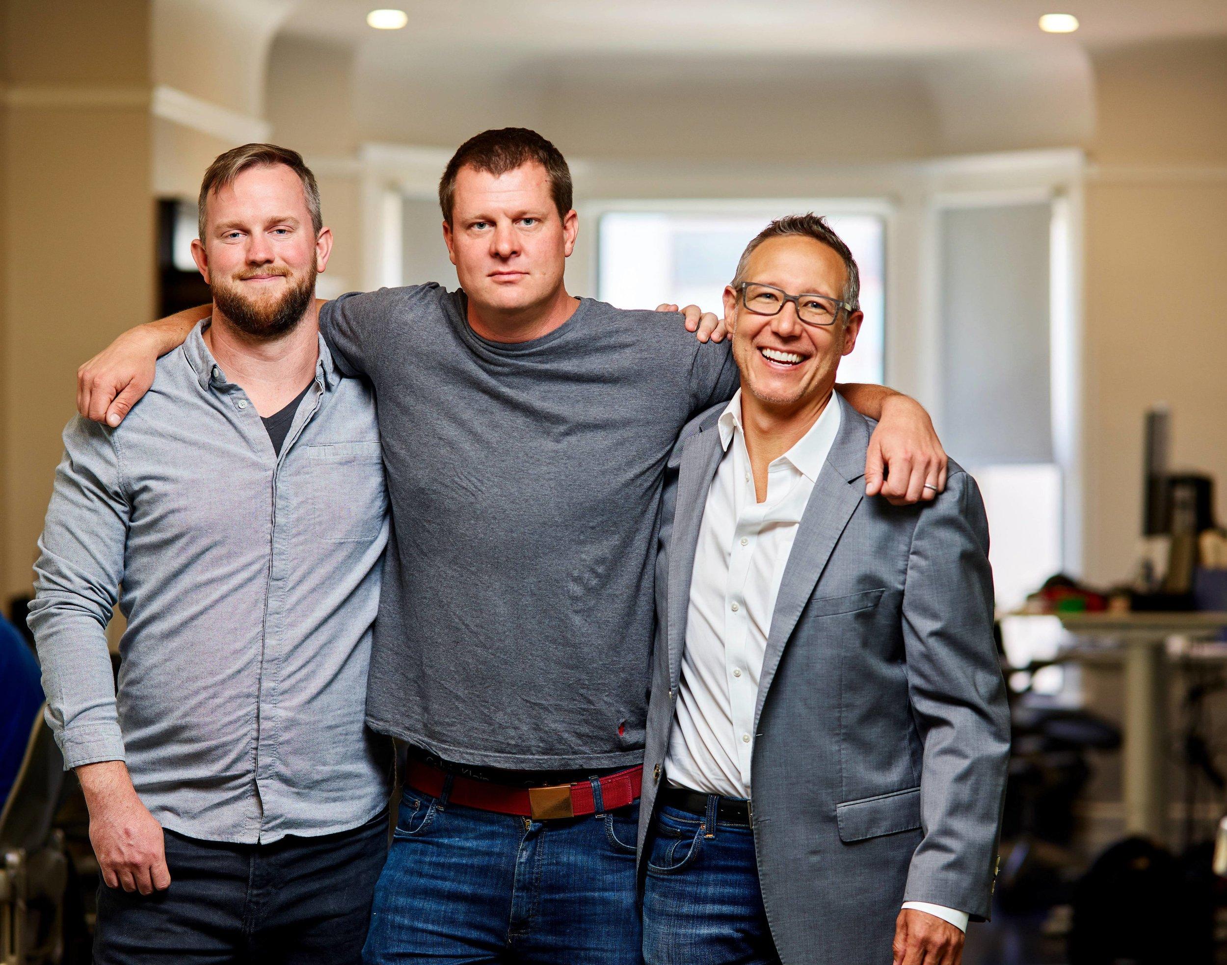 (L to R) Founders Cory Johnson, Niko Vuori & Justin Cooper