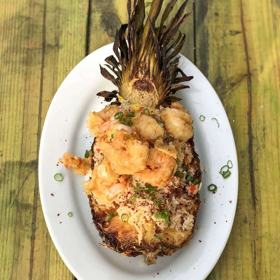 "Coconut Shrimp Stuffed ""Pineapp-bowl."" Photo by:    @josheatsphilly"