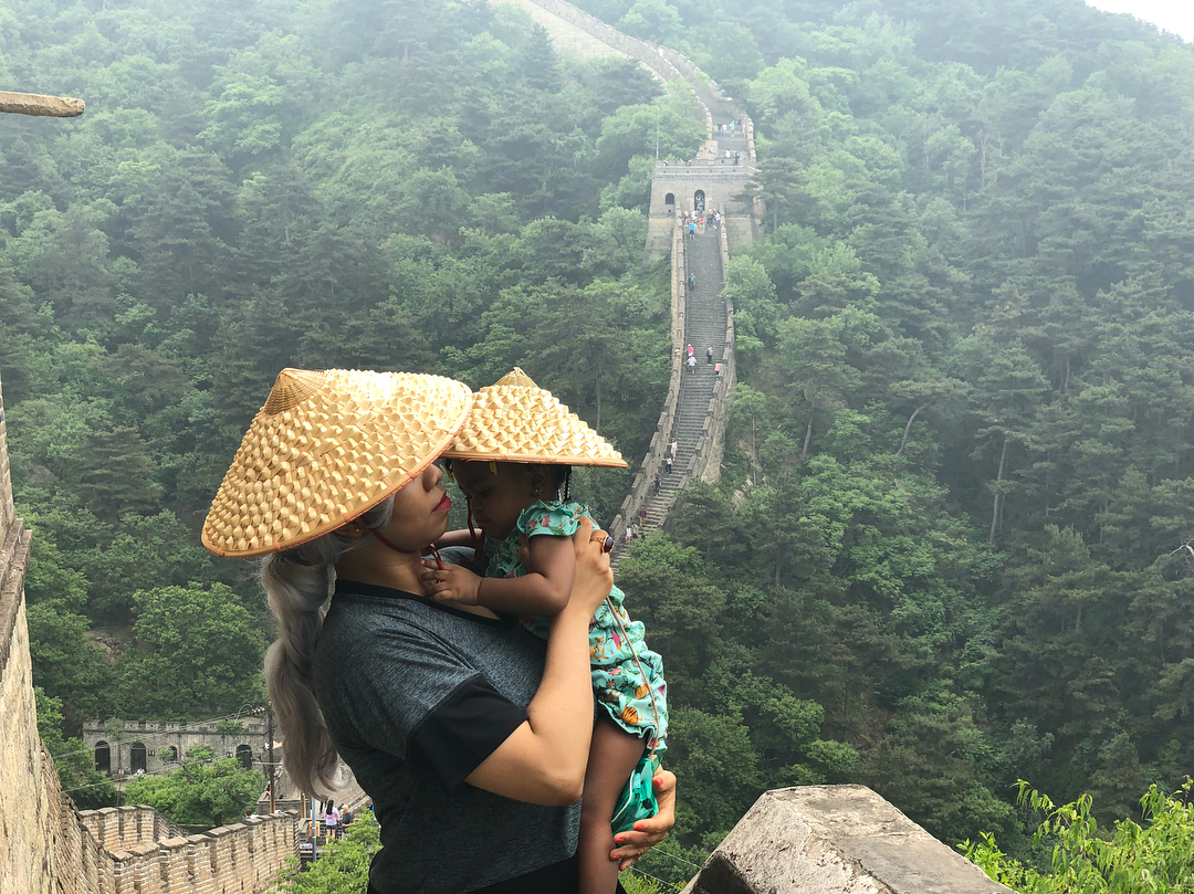 Courtney and Grace exploring the Great Wall