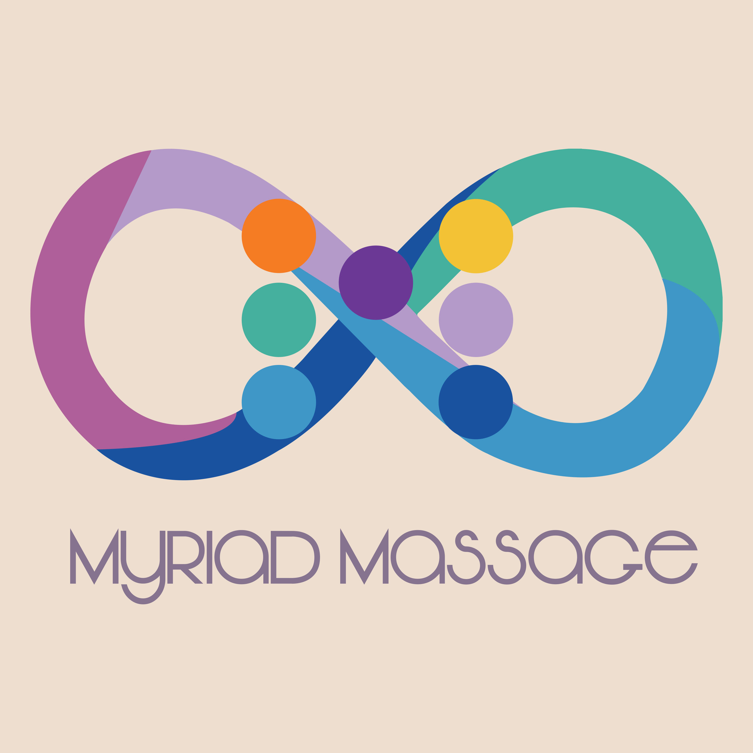 Logo for Myriad Massage, 2016