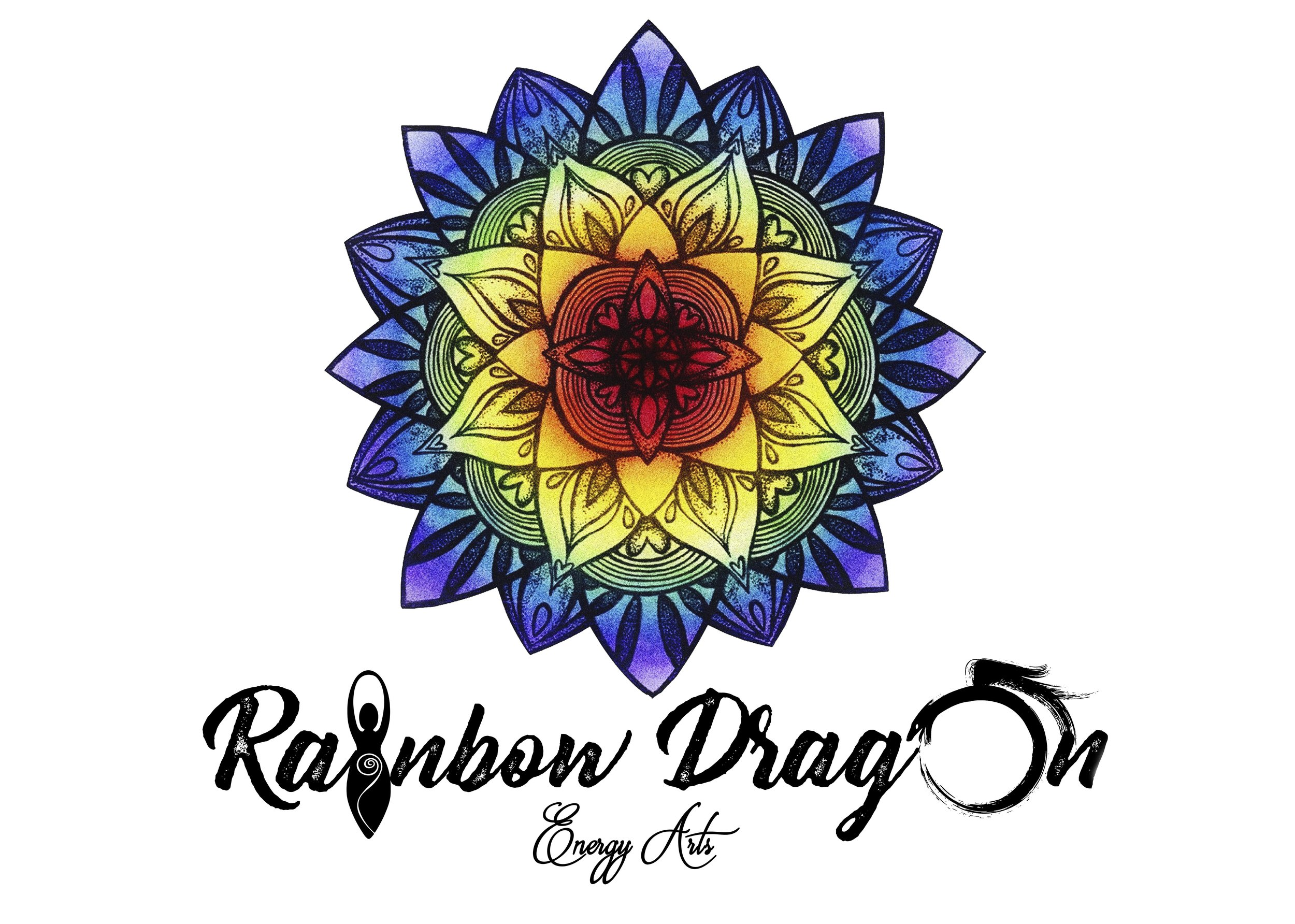 Business Logo Re-Imagining for Rainbow Dragon Energy Arts