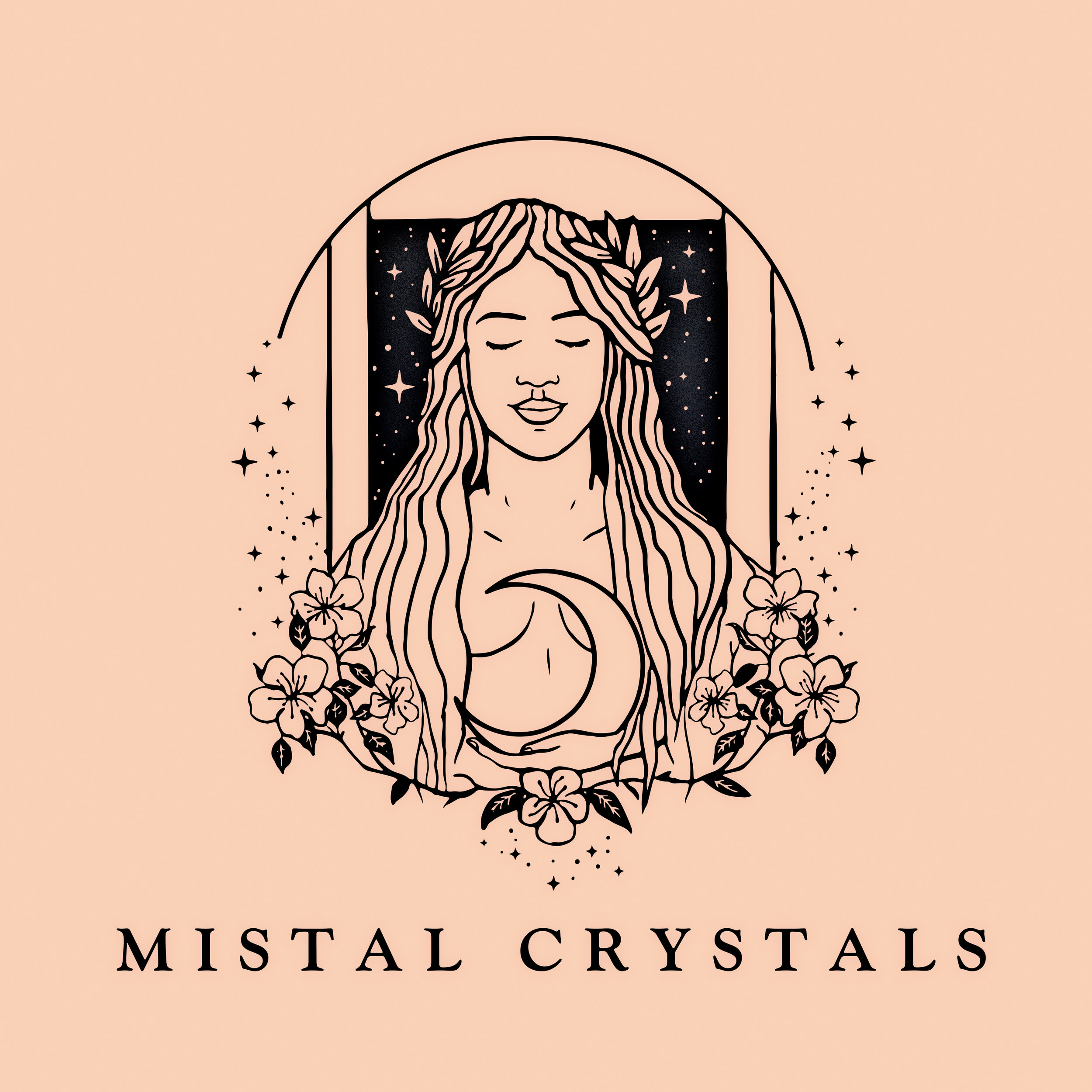 "Logo Design for ""Mistal Crystals"" a Queensland based Crystal and Jewellery store"