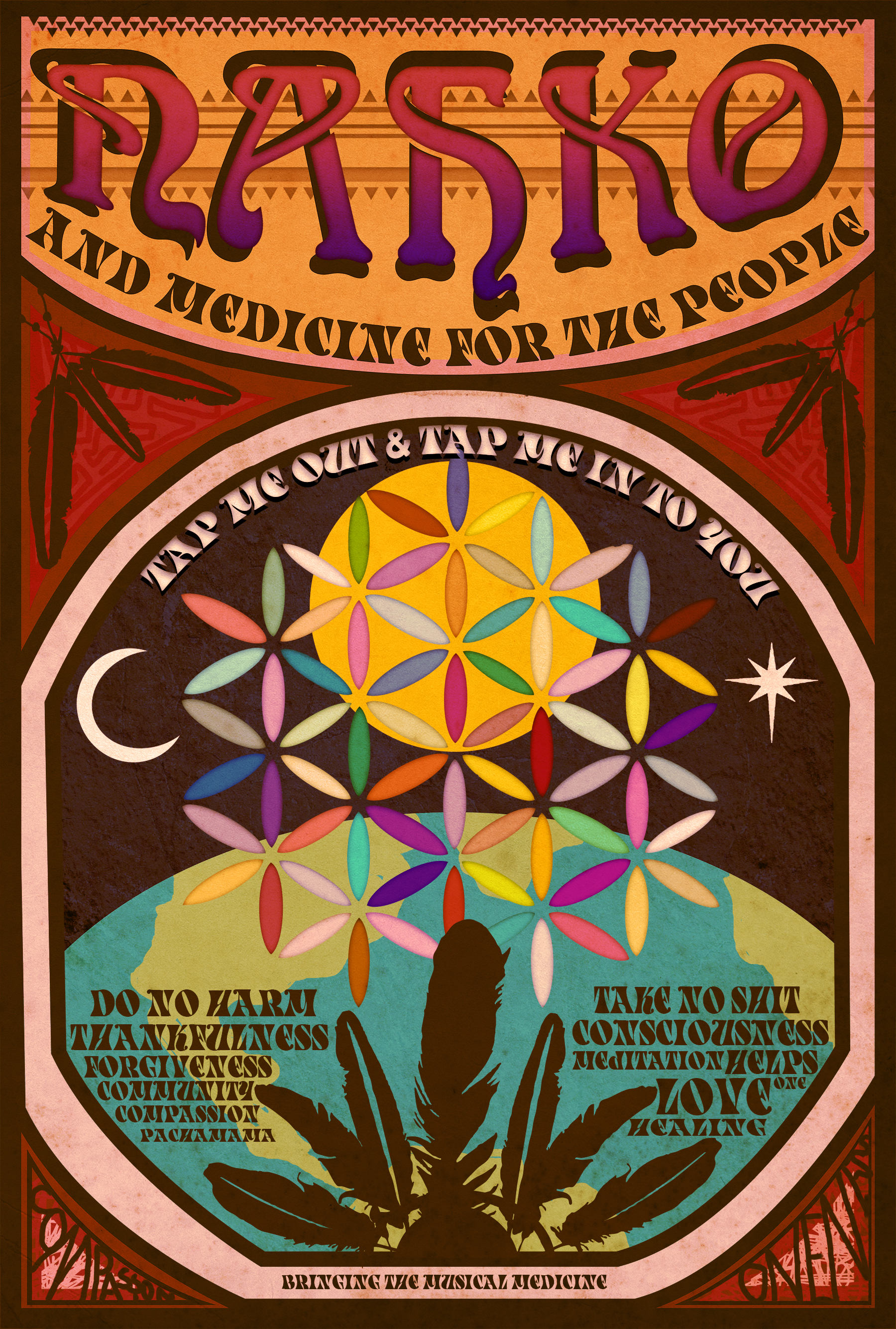 "Fan Made Festival poster for ""Nahko & Medicine for the People"" 2014"