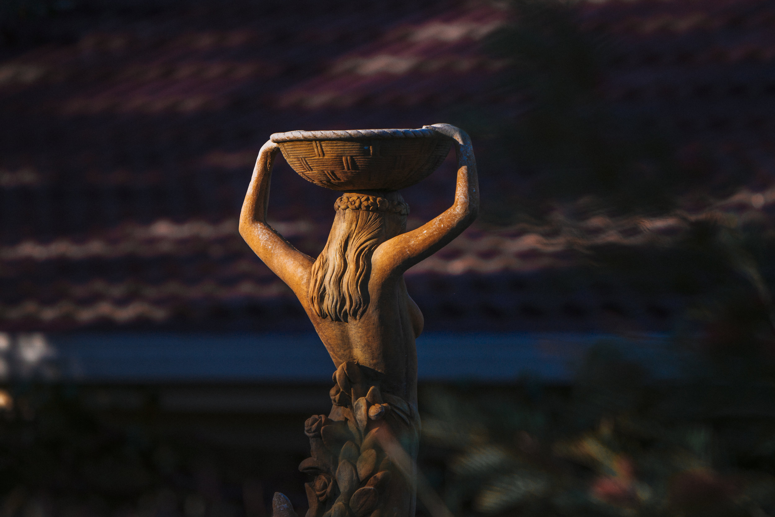 A water bearer statue near my sisters house. Something I see when I go on my contemplative walks when visiting.