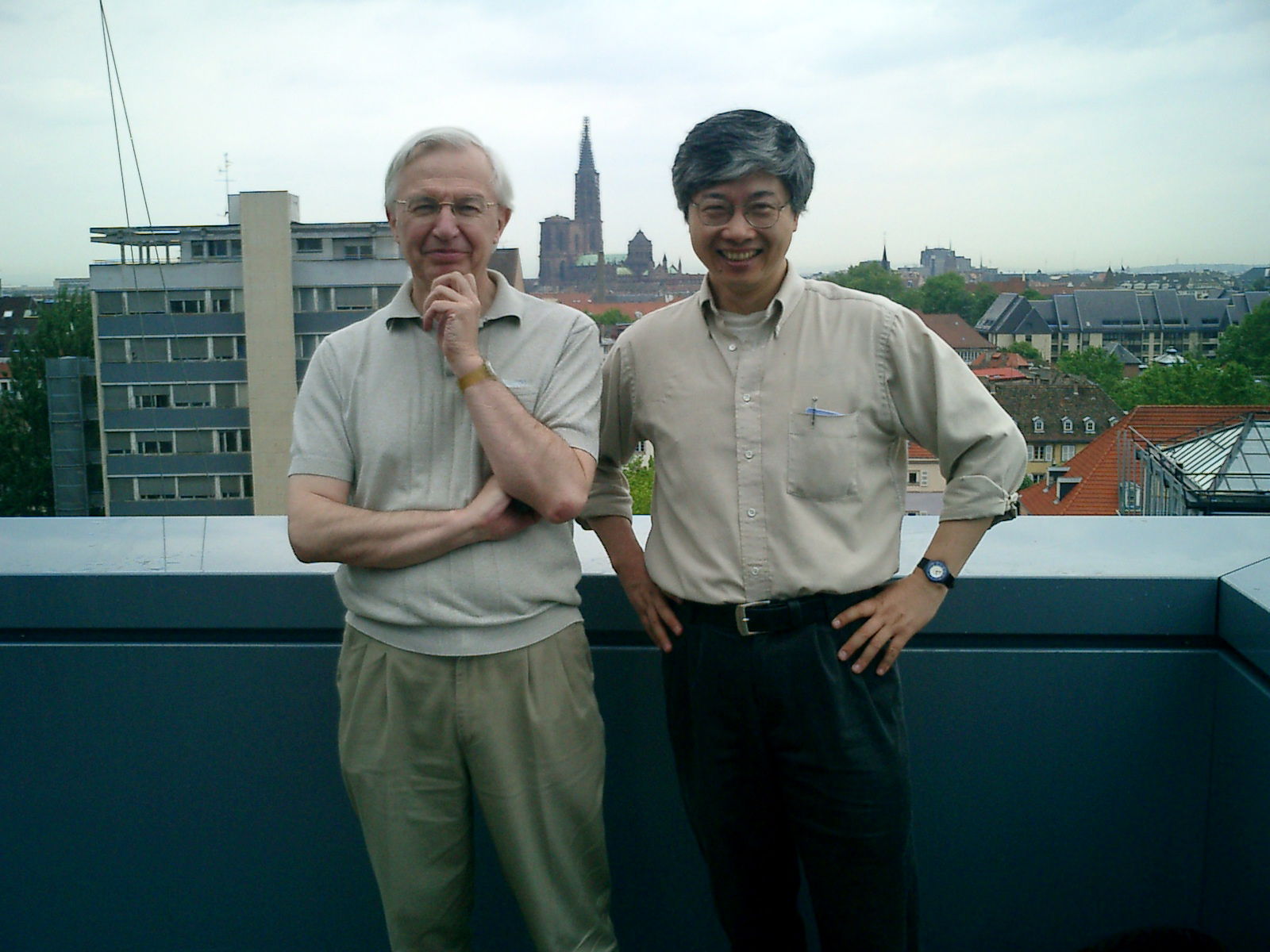 With Jean-Marie Lehn in Strasbourg, France, in 2005.