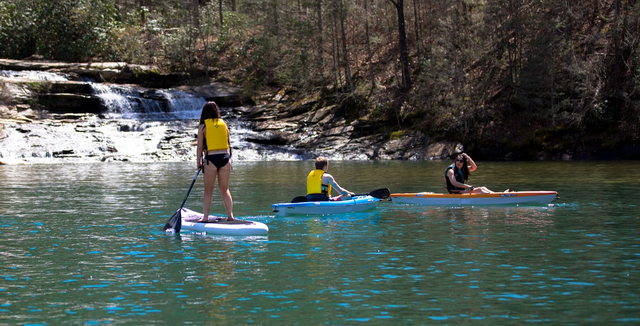 Paddle Board and Kayak Rentals - When it comes to paddle board rentals on Lake Keowee, we have you covered. What about Kayak rentals on Keowee? We have everything you need, including free delivery!Learn more about our Kayak and Paddle Board Rentals ➝