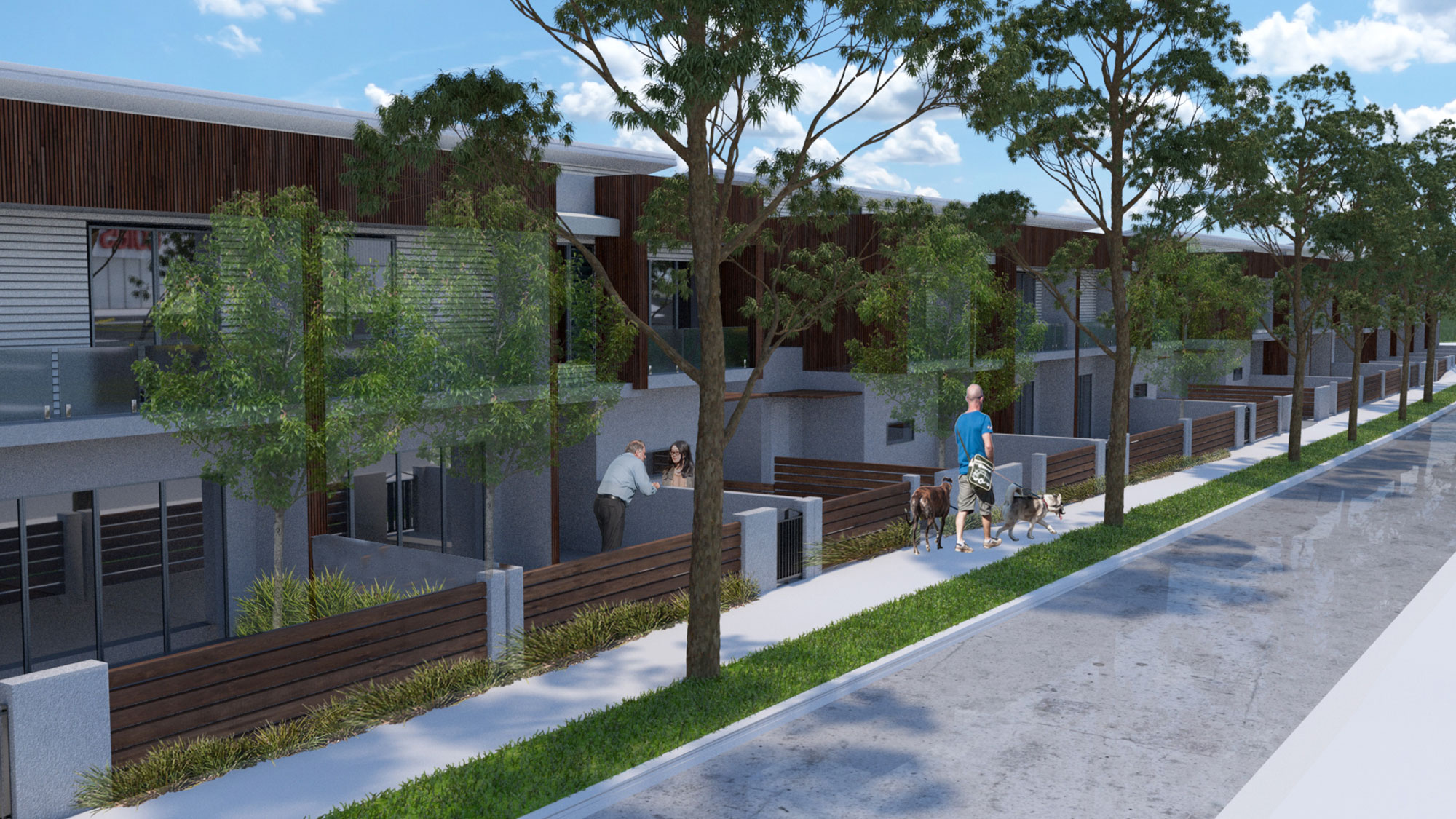 Internal Street view of Bonnells Bay development
