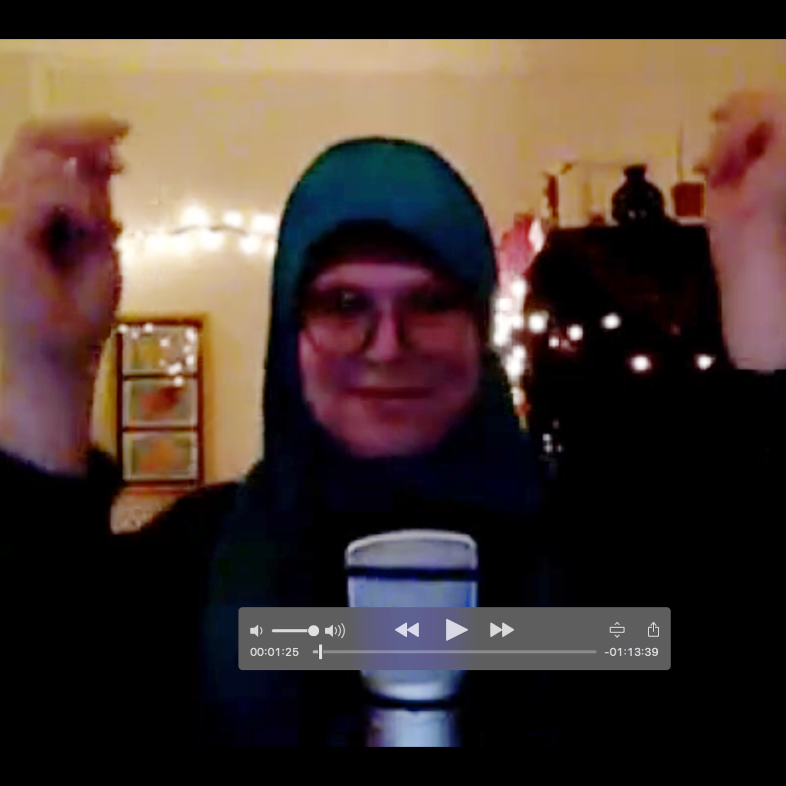 Skype dance party with Mahdia to shake things up pre-interview