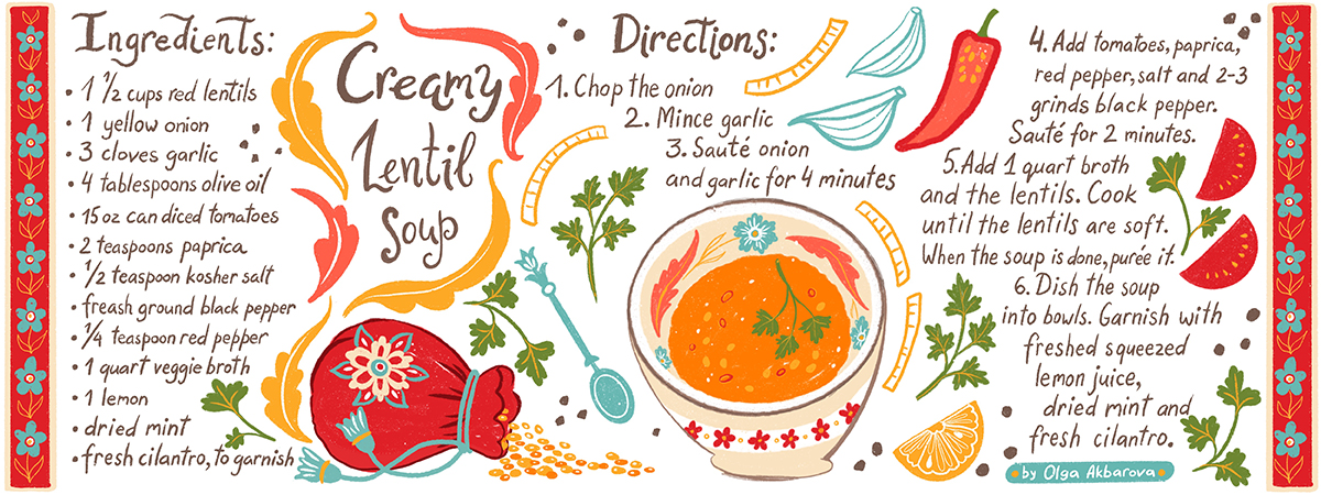 Illustrated Recipe for www.theydrawandtravel.com