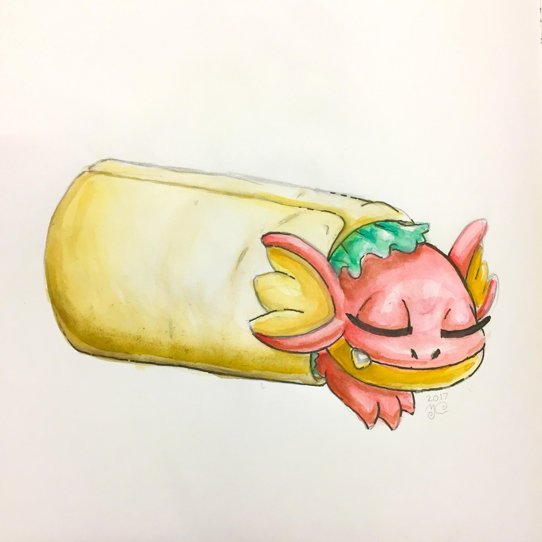 Dragoncember 2017-05 Baby Burrito Dragon.JPG