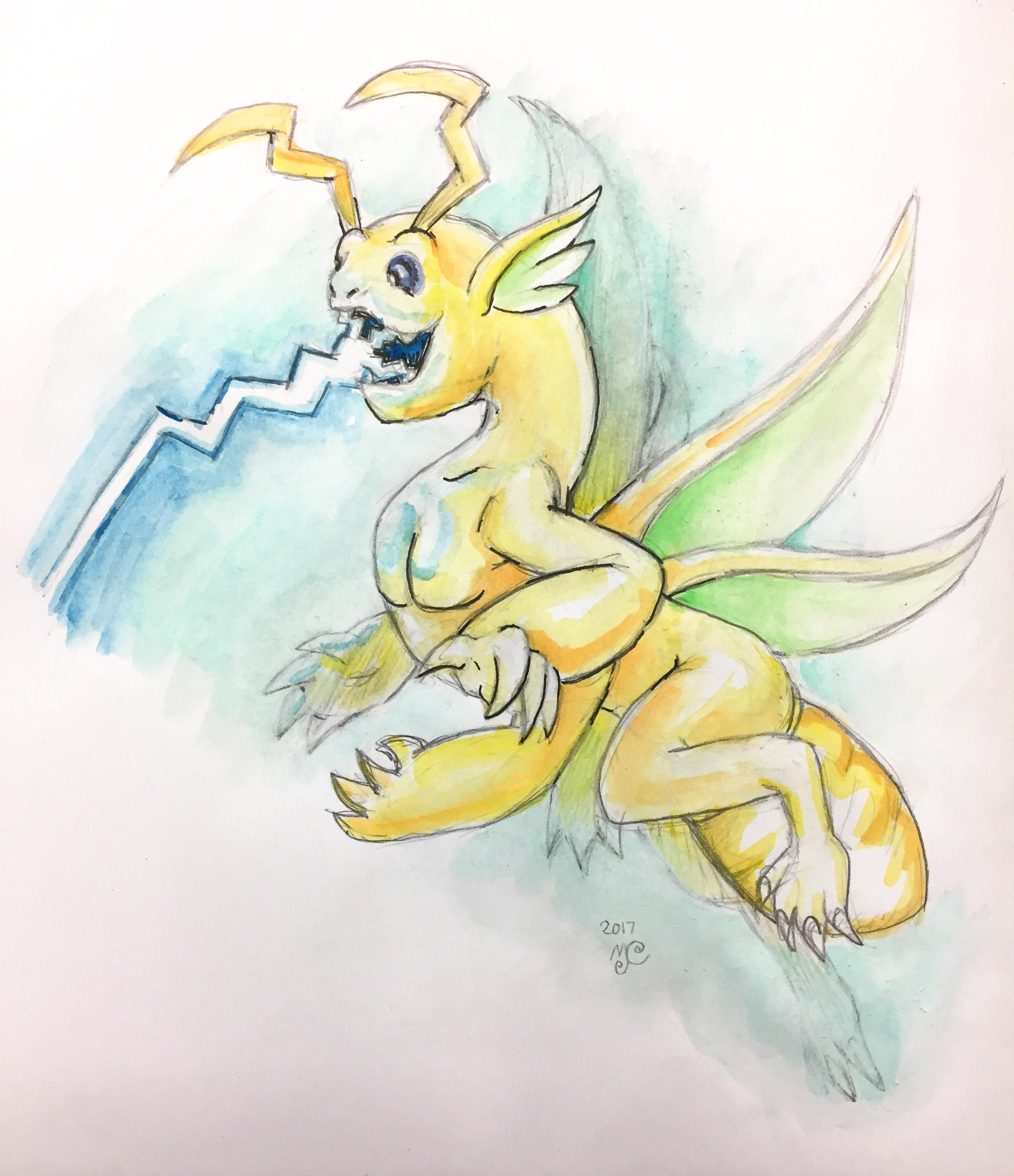 Dragoncember 2017-06 Yellow Lightning Bug Dragon.JPG