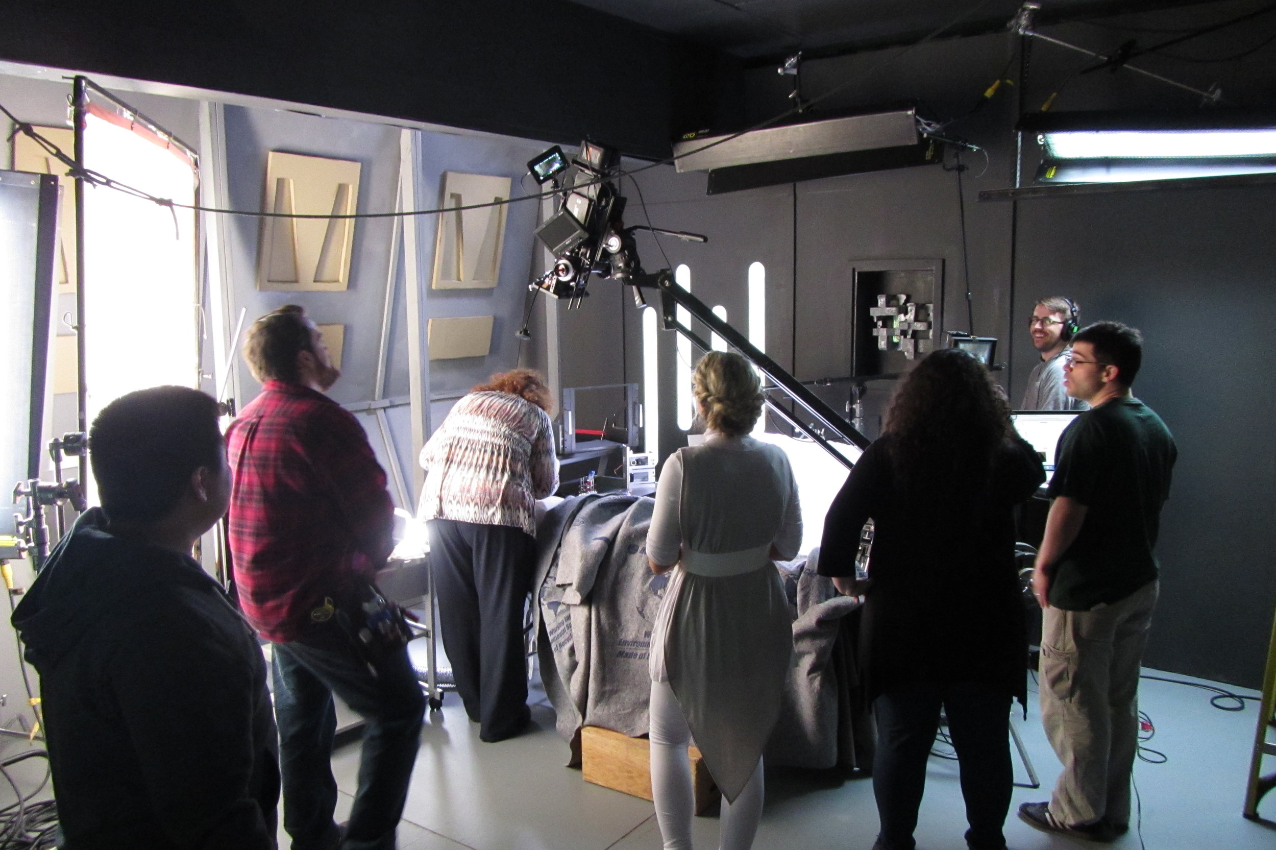 Cast and Crew on the Set of Star Wars: Dresca