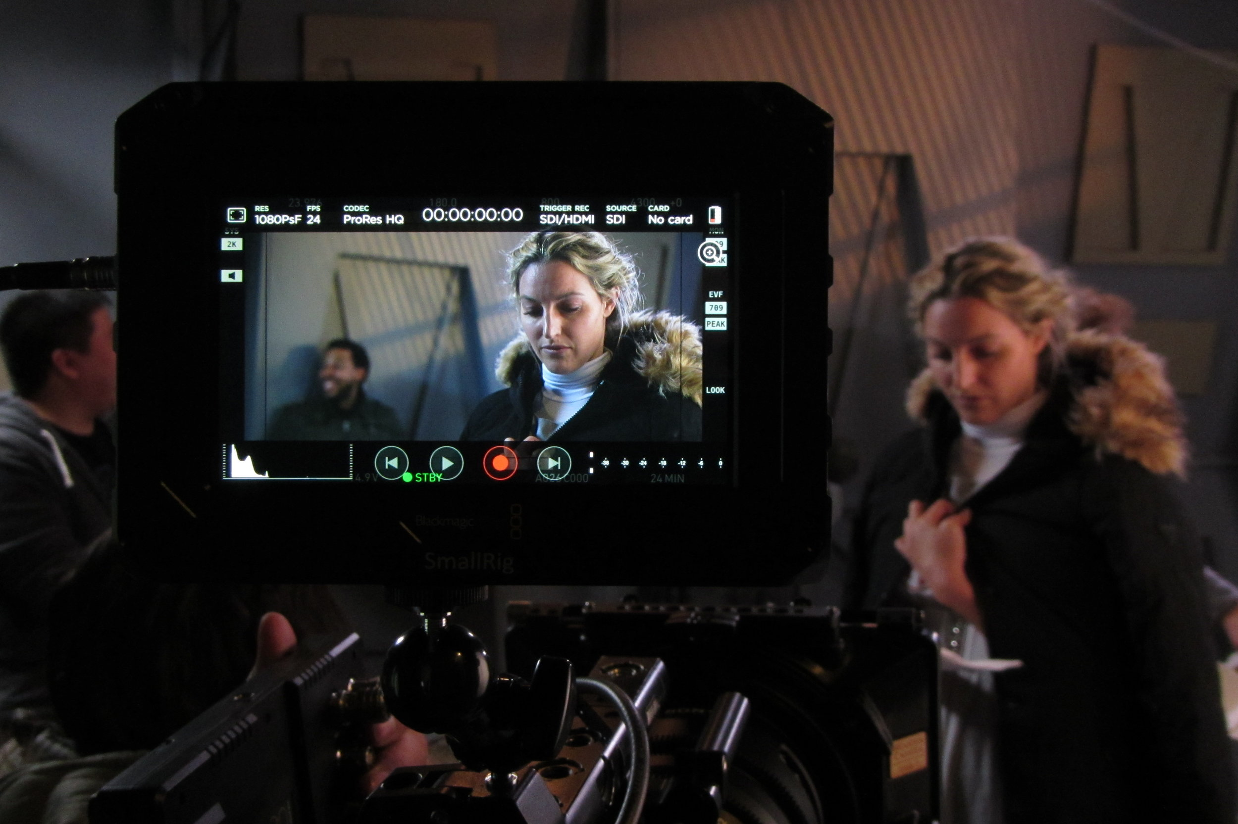 Ali Durham (Dr. Merra Cray) on the Set of Star Wars: Dresca