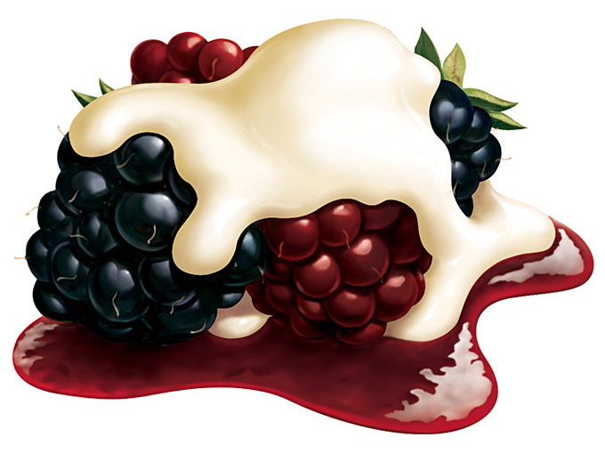 hyper real berries and cream