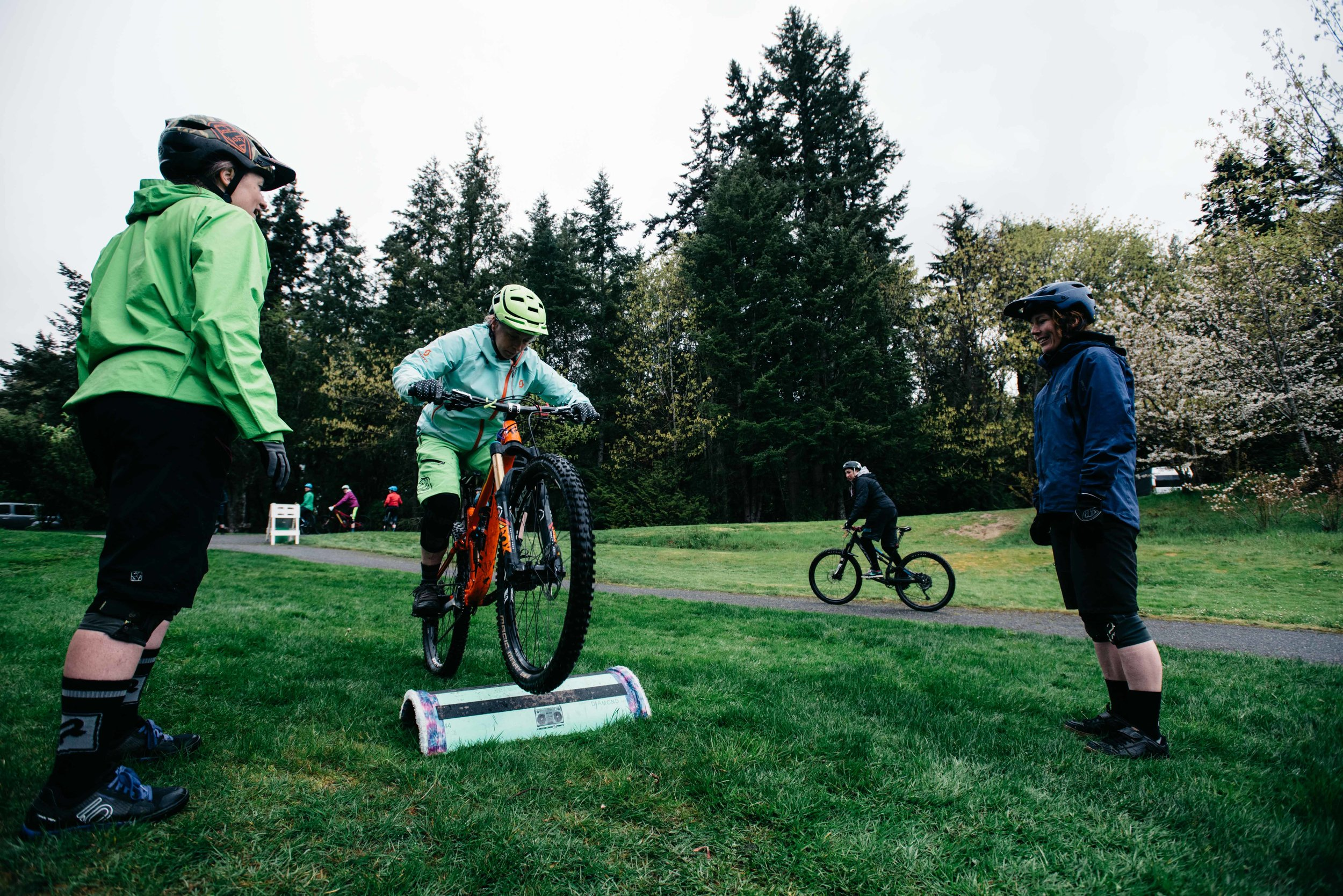 Step-by-intentional-step we deepen your understanding of what it takes to confidently ride your mountain bike
