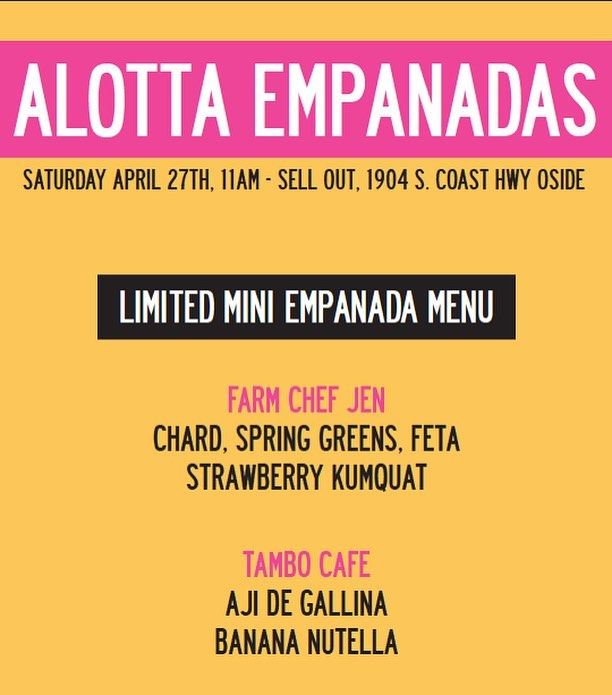 Today is a good day for Empanadas!  Come on by starting at 11am!