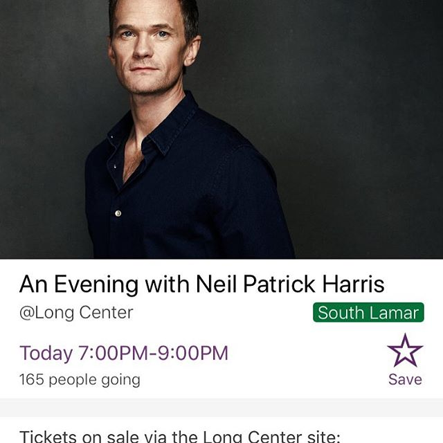 Top Pick for Today: @nph at the @longcenter  For more awesome events check the link in bio.