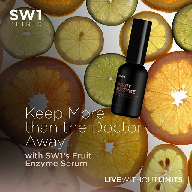 Bid adieu to clogged pores, prevailing acne and future breakouts with this non-greasy super serum containing natural fruit enzymes that possess healing properties for the long term benefit of the skin . . Find out more on www.SW1shop.com . . #sw1clinic #sw1spa #beauty #skincare #antiaging #livewithoutlimits #glowingskin  #acne