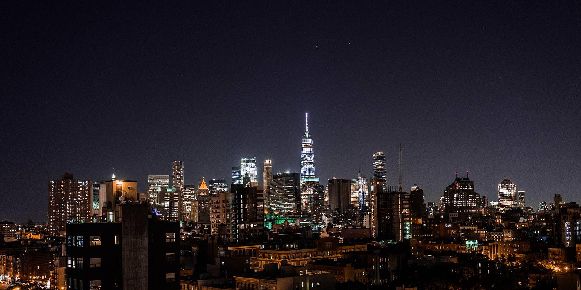 Skyline New York by night