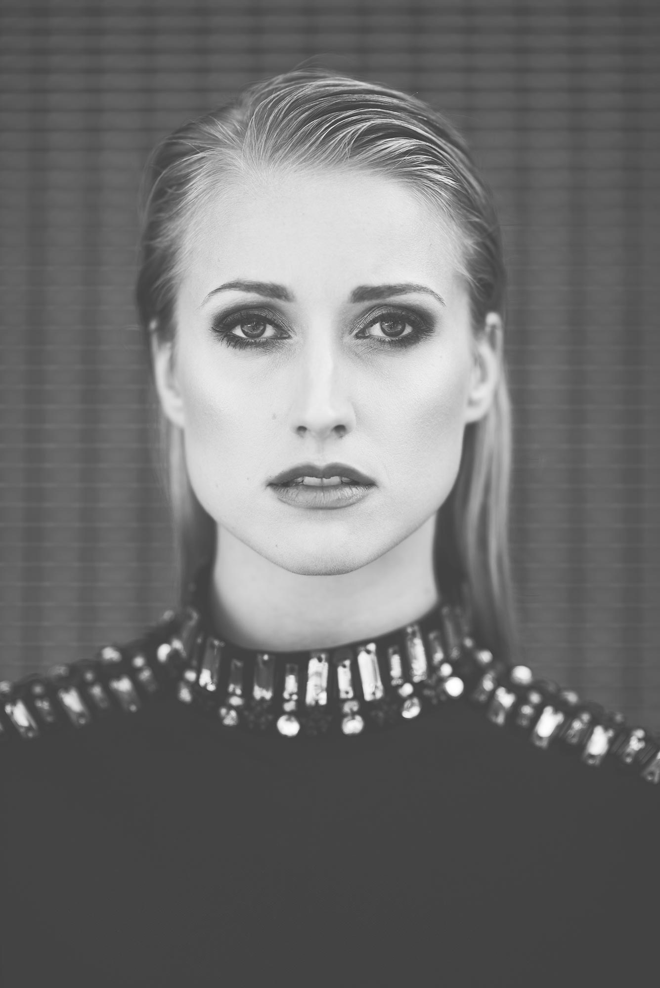 Blonde Model black and white
