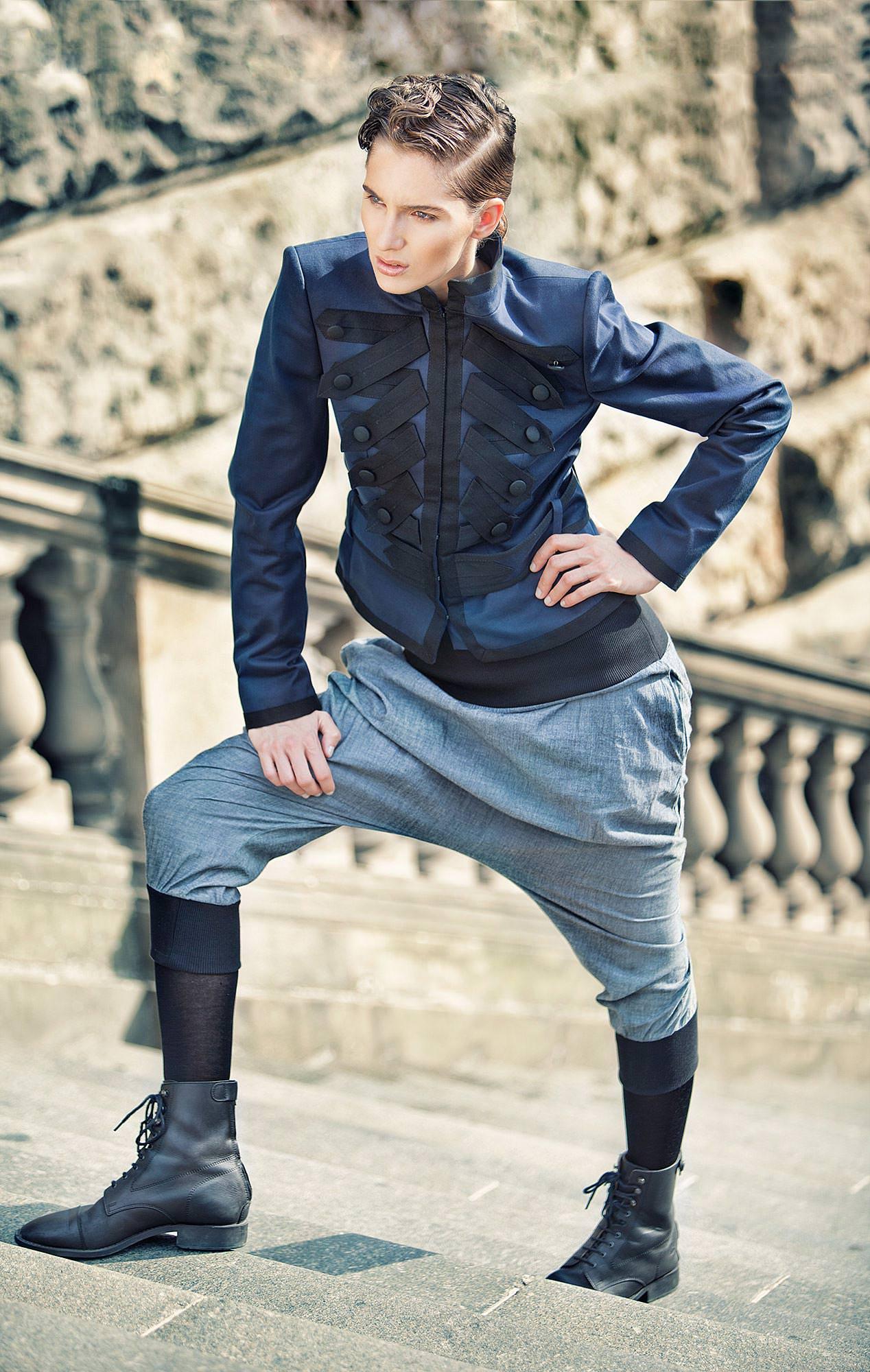 blue Fashion female Model