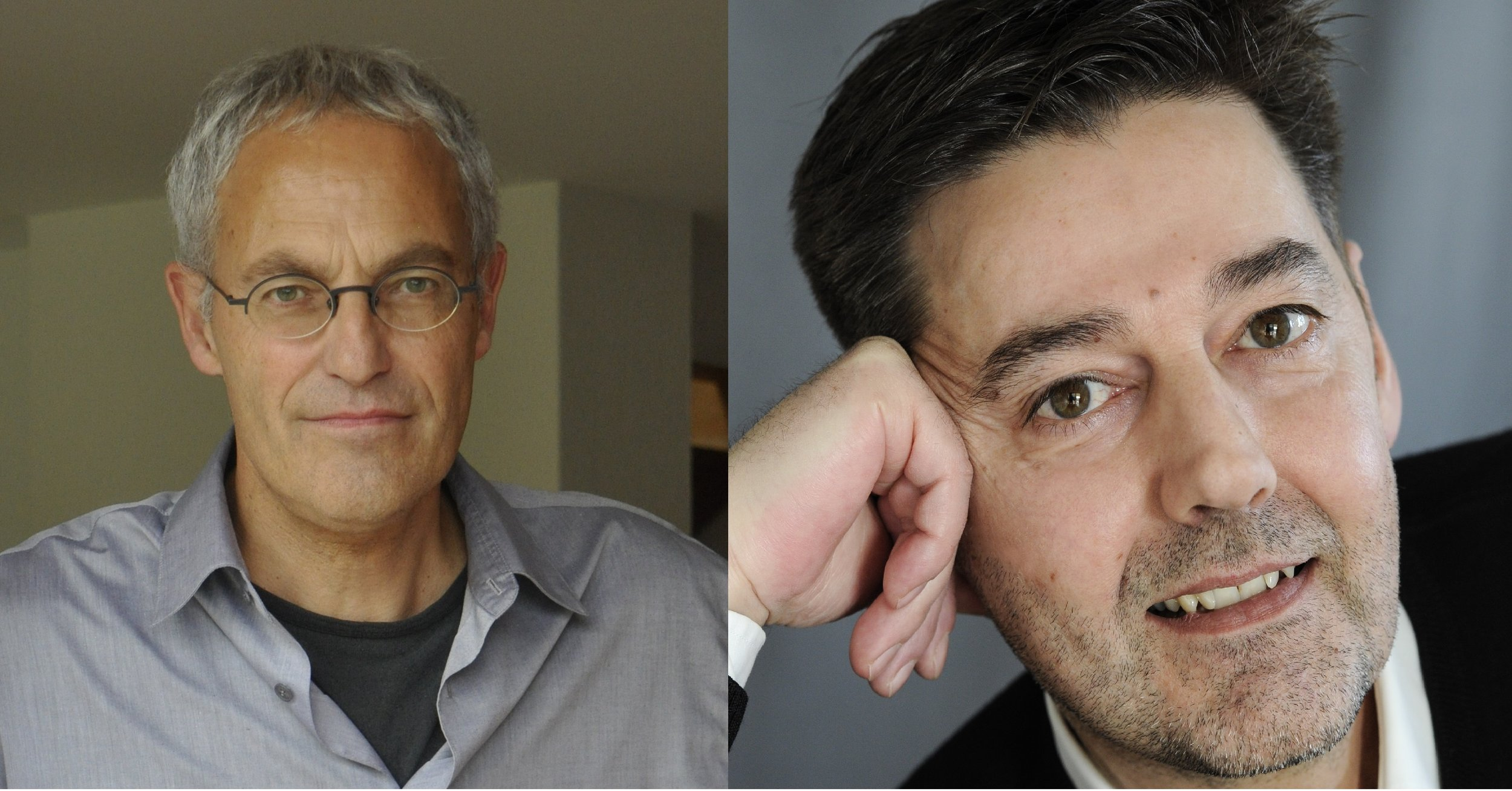 Ernst Strebel und Andreas Neeser. Fotos: Yvonne Böhler / Ayse Yavas.