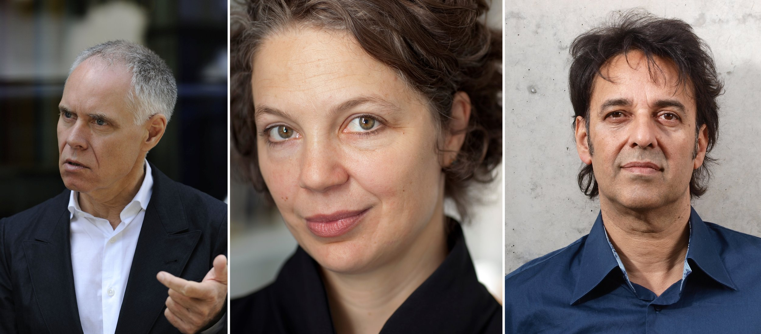 V.l.n.r.: Moritz Leuenberger (zVg); Nadj Abonji (Gaëtan Bally); Martin R. Dean (Claude Giger).