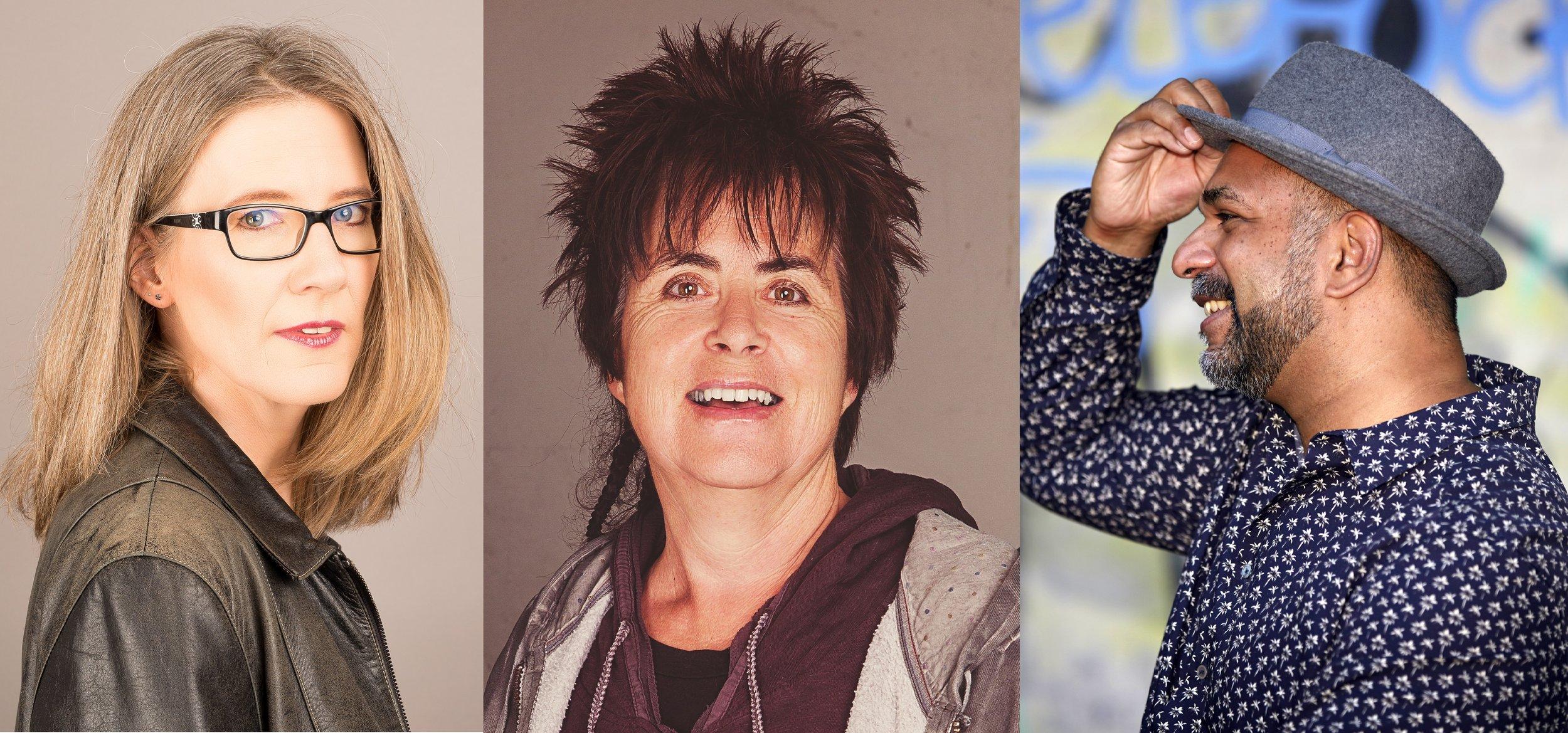 V.l.n.r.: Petra Ivanov (Chris Marogg), Alice Gabathuler (zVg), Sunil Mann (Renate Wernli).