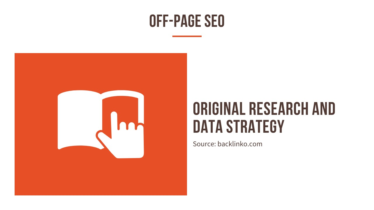 Original research and data strategy