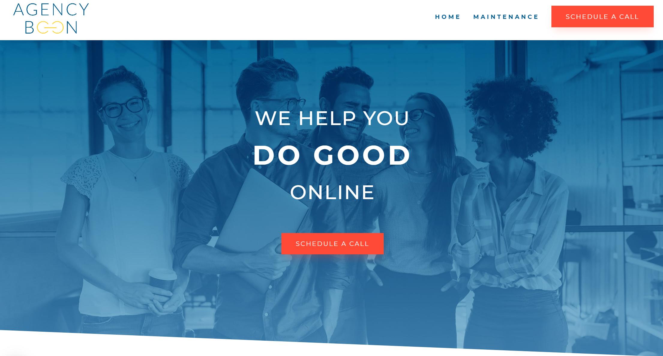 Marketing consultant website - example 1