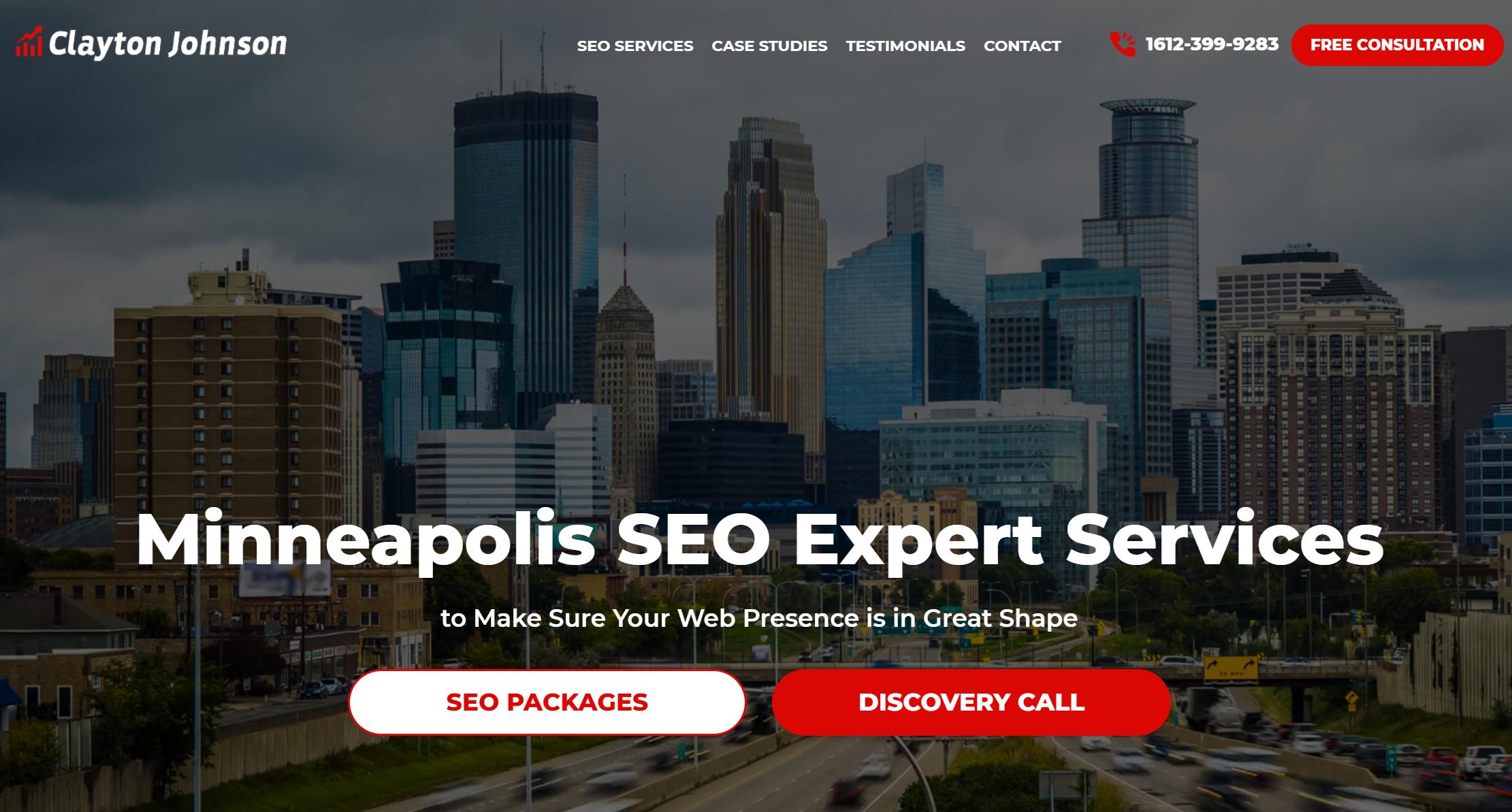 Marketing consultant website - example 2