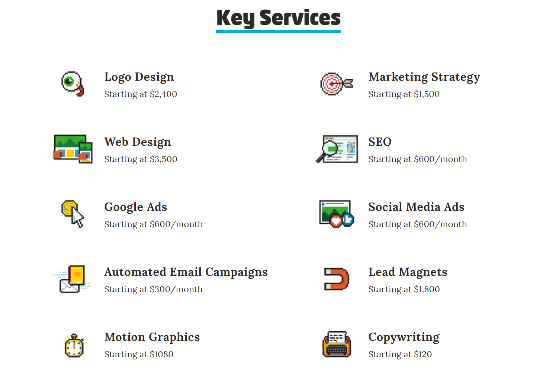 Marketing consultant website - example 4