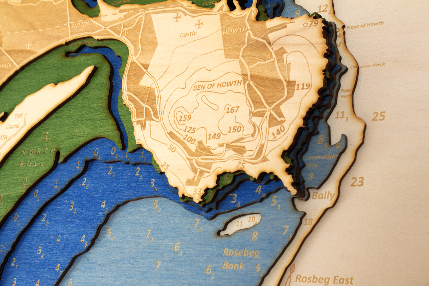 The Perfect Gift - This is the perfect gift for those who have a connection to the sea. Chartistic 3D Nautical Charts in wood faithfully recreate the paper chart of your special piece of coastline to transform it into a stunning and unique piece of art.