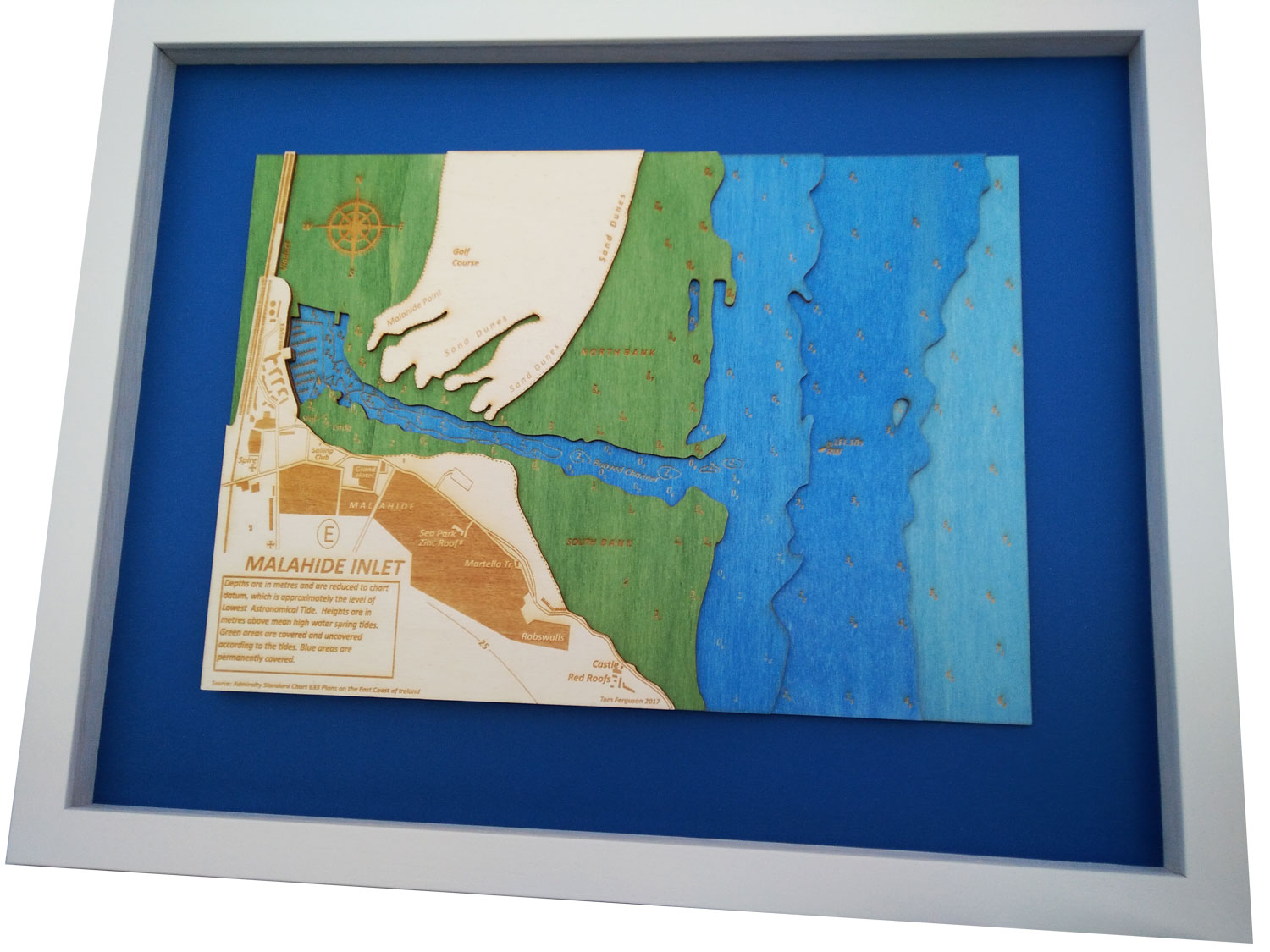A3 - Ideal for Many Locations - This is an ideal size for many locations in your home, business or yacht. These charts consist of all of the major layers from the paper chart to give a stunning 3D effect in full colour. The chart size is A3 - 297 x 420mm (16