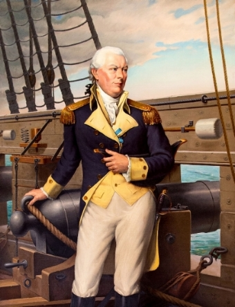 Commodore John Barry. Portrait by Wilfred I. Duphiney (1884-1960). Rhode Island State House portrait collection. Original Photo by Kenneth C. Zirkel [Public Domain]