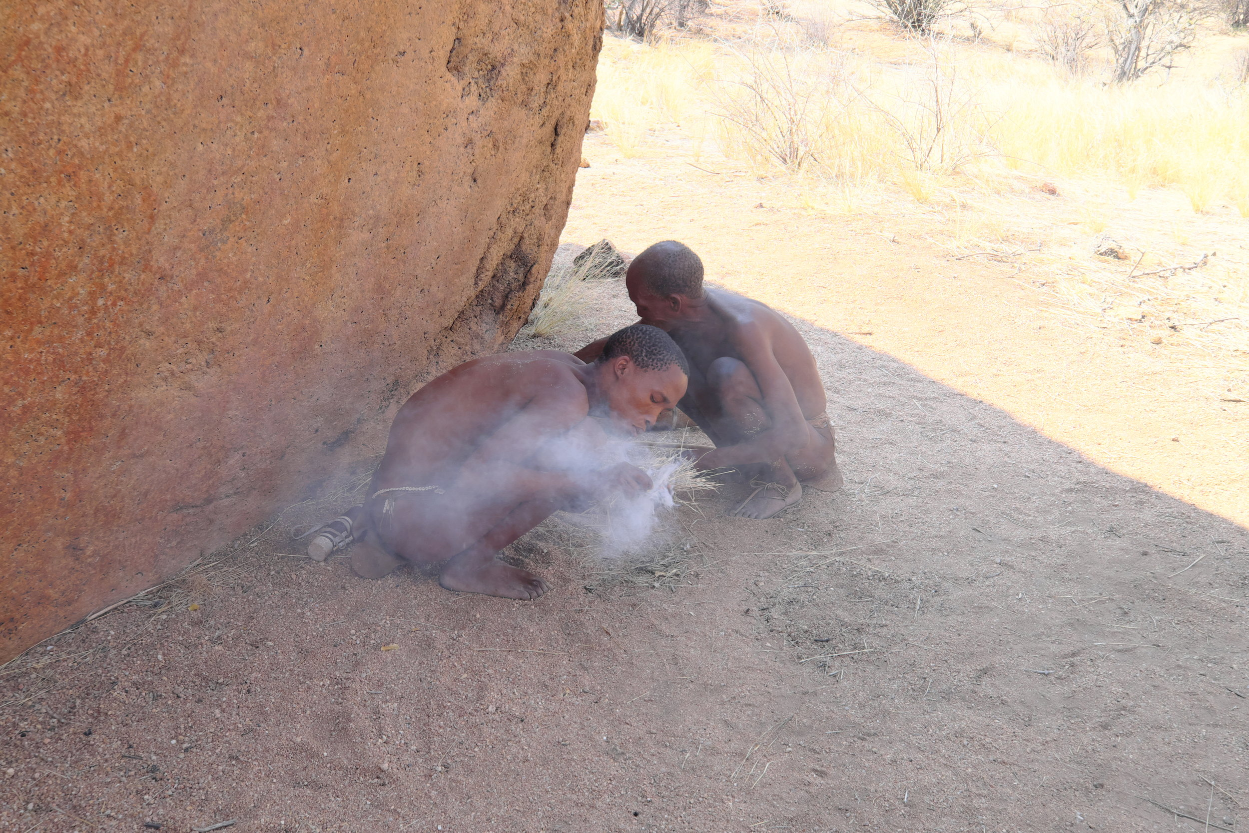SAN People making fire