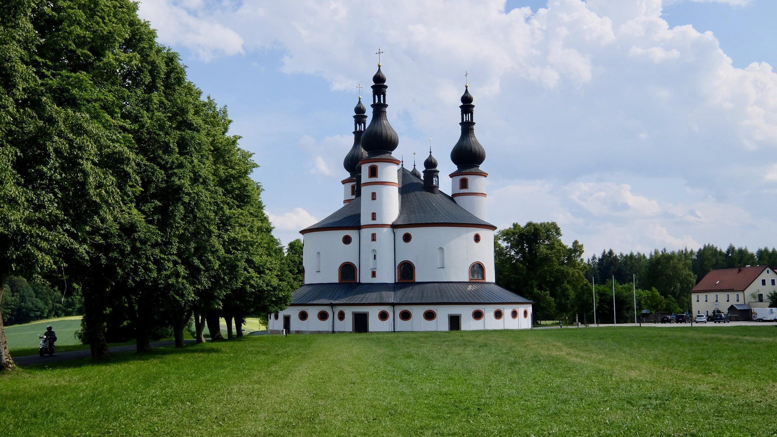 Kyrkan Kappl i närheten av Waldsassen