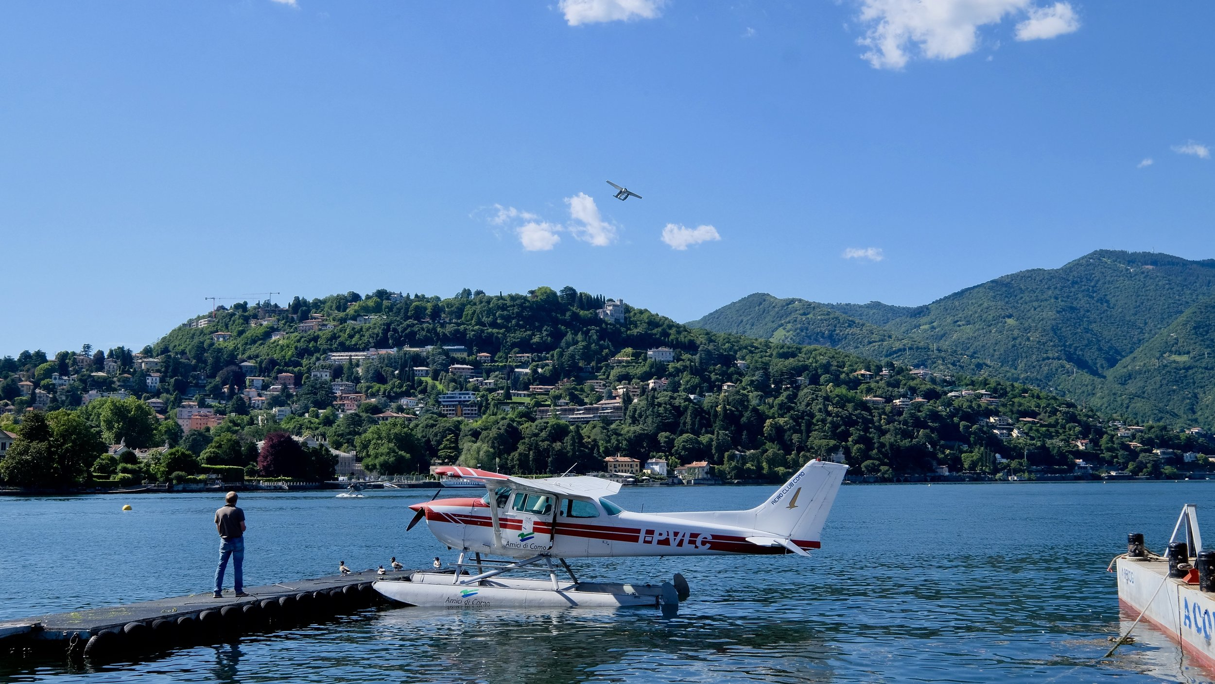 Sjöflygplan flygplatsen i Comosjön