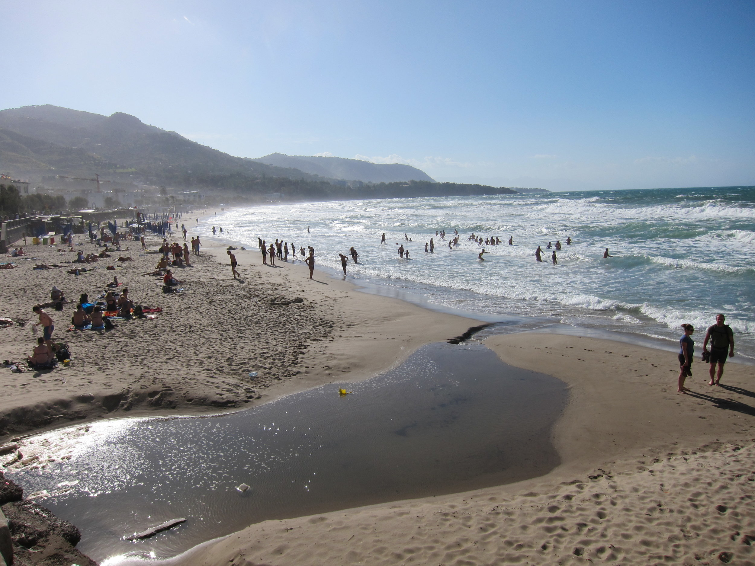 The beach in CefalÚ