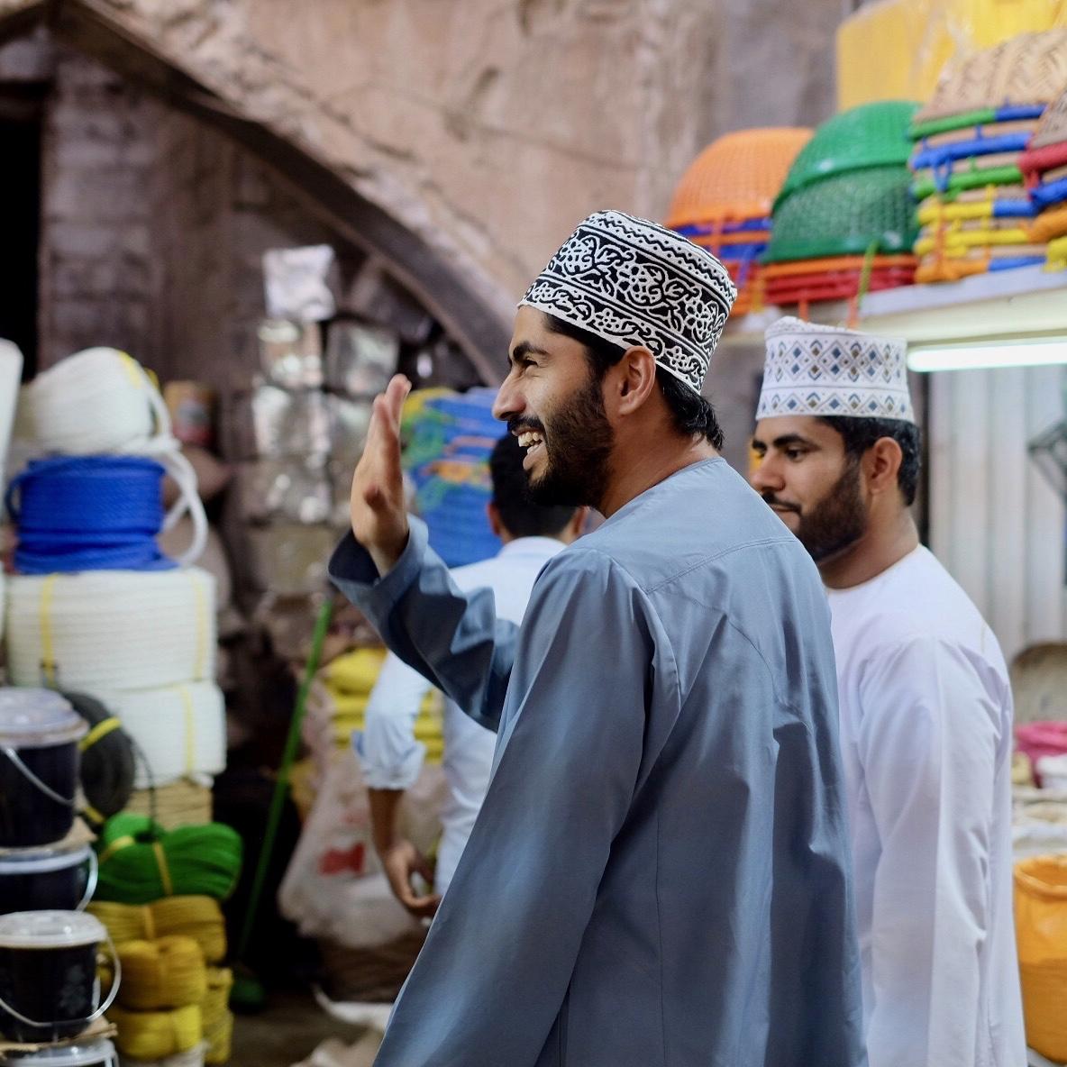 Omanis i Nizwas souk