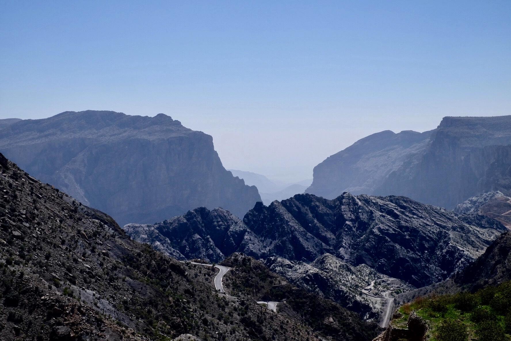 Utsikt från Saiq platån